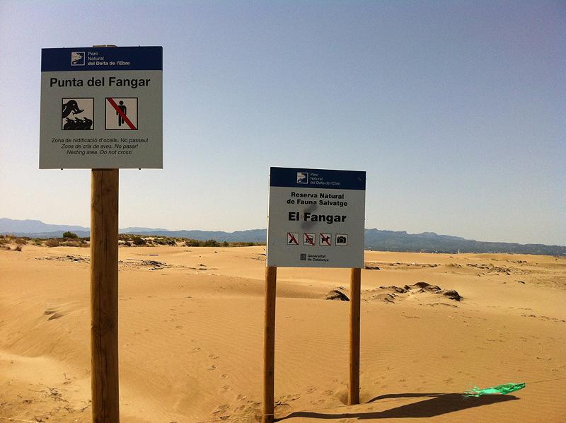 Espacio protegido El Fangar en el Delta del Ebro