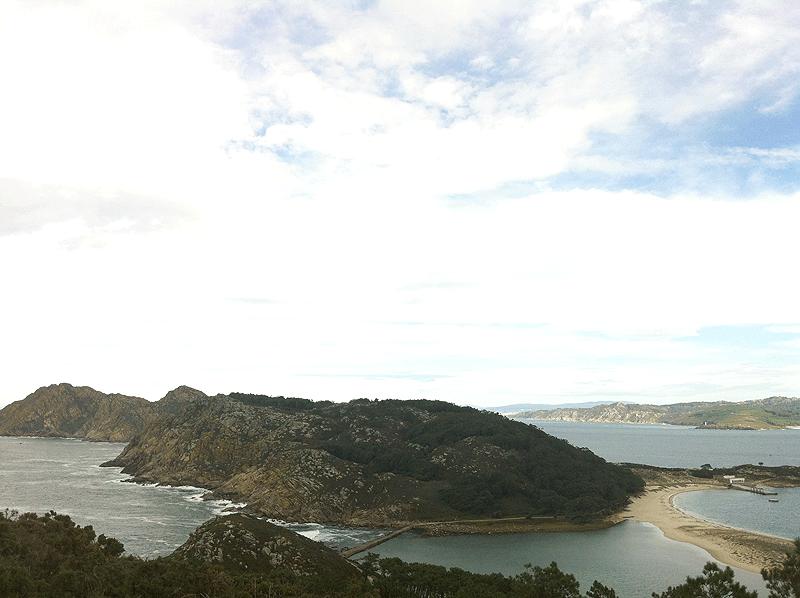 Panorámica desde las Islas Cíes