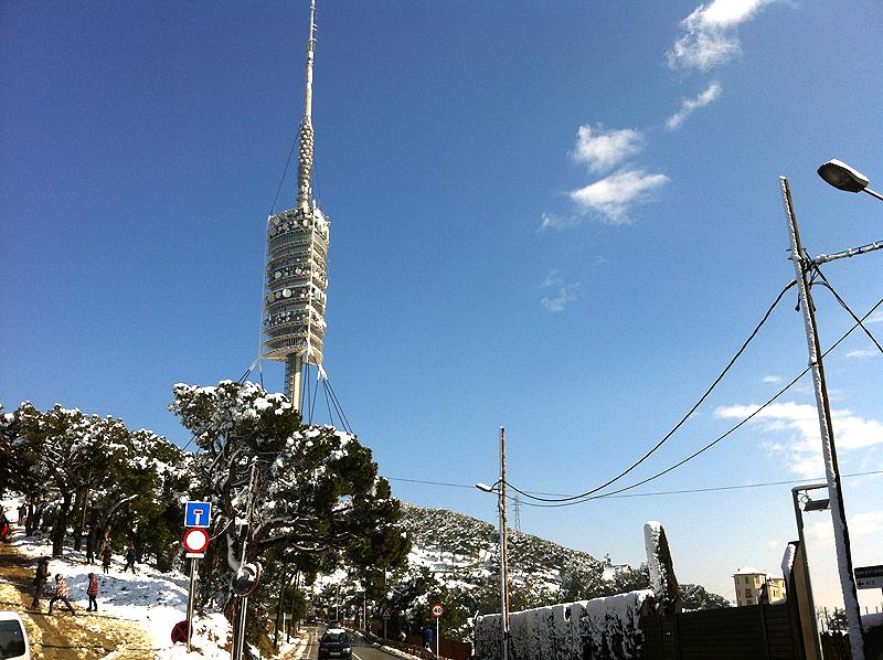 Nieve en Collserola el pasado febrero 2013