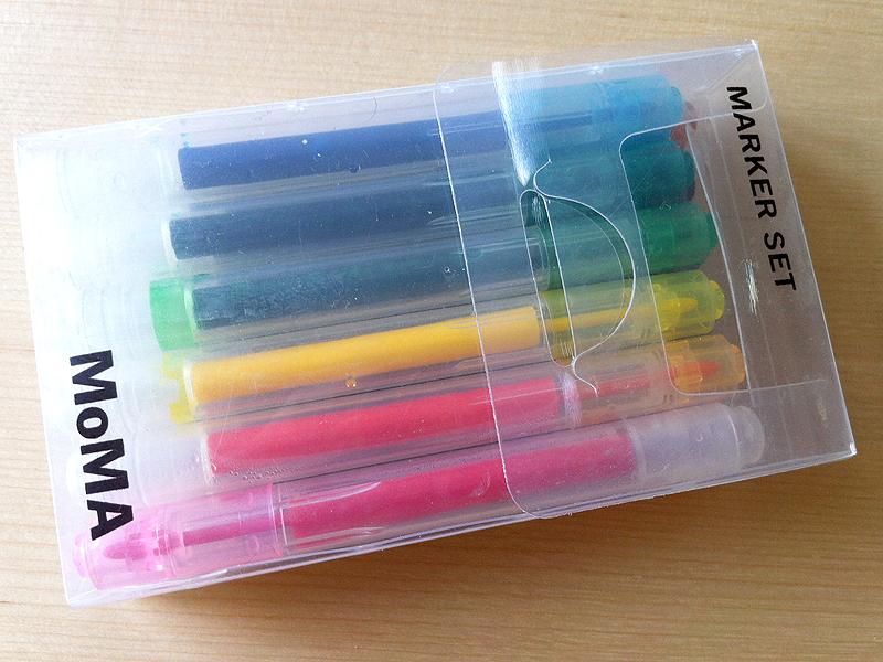 Rotuladores de colores del MoMA