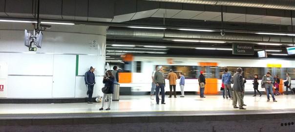 Viajeros en Sants Estació