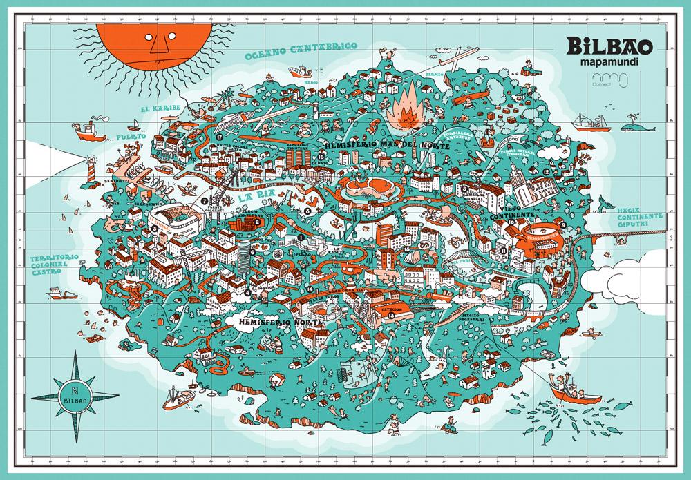 Mapamundi de Bilbao - Iván Bravo