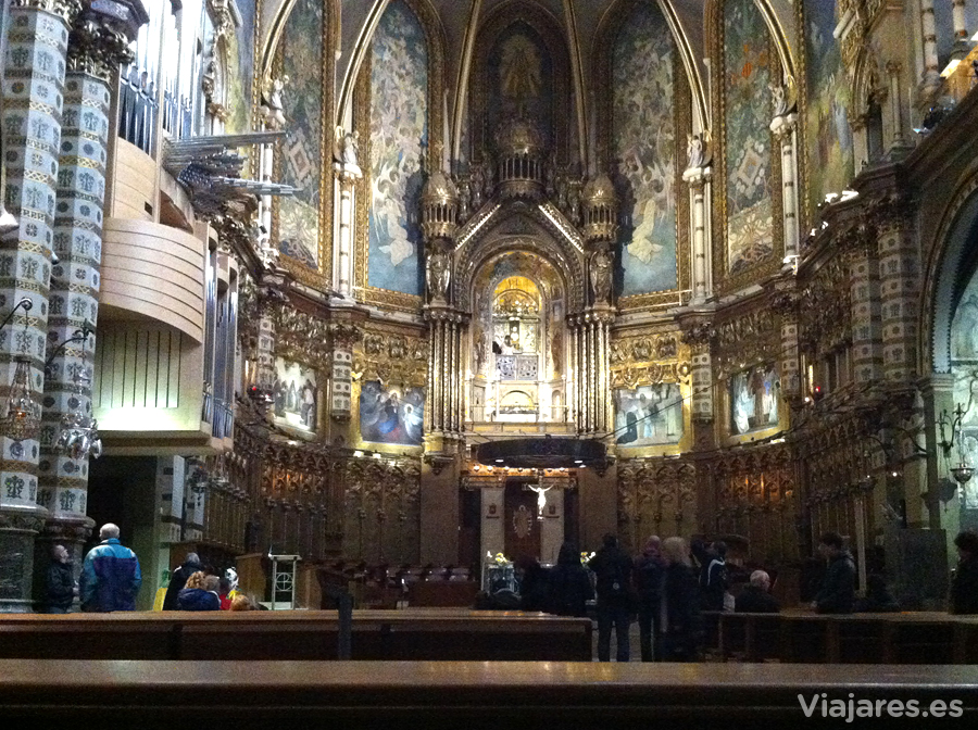 Interior de la Basílica, Monasterio de Montserrat