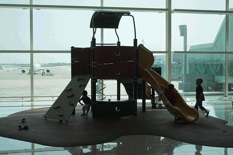 Parque infantil en la Terminal 1  de Barcelona