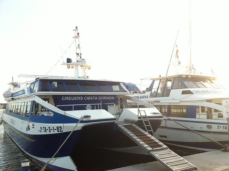 Cruceros en el puerto de Cambrils
