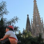 Caganer con la Catedralal fondo (qué contraste!!)