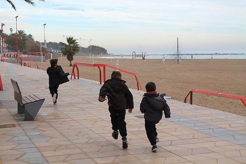 Los niños disfrutando en Vinaròs