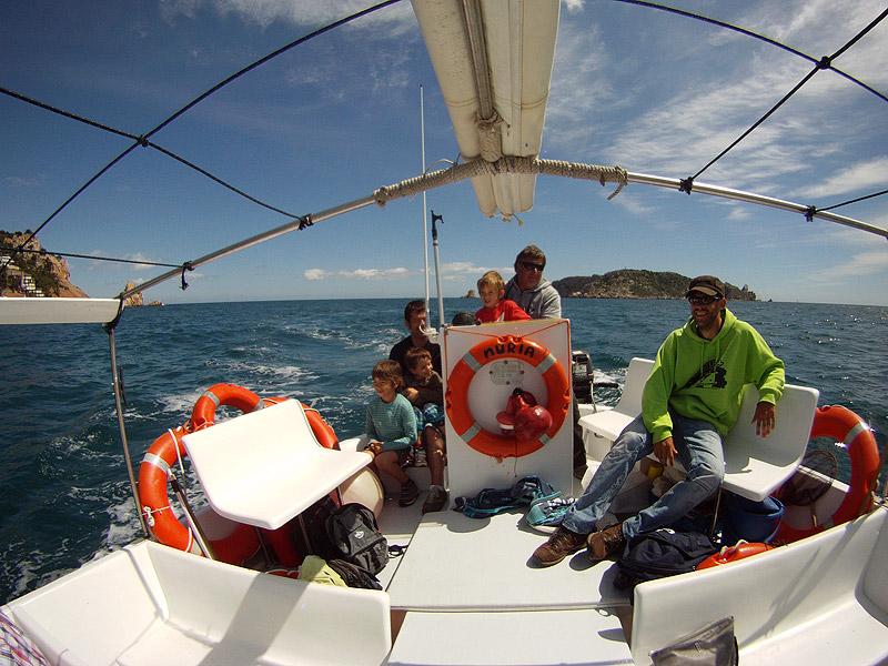 A bordo de la Barca de la Nuria