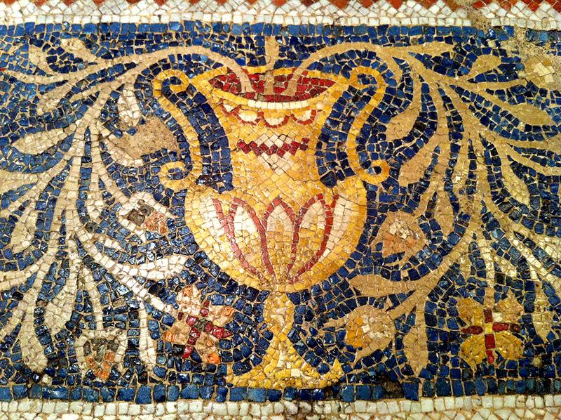 Fragmento del mosaico sepulcral de Ampelius