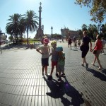 Al final de La Rambla encontramos el Monumento a Colón