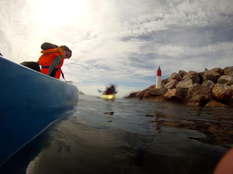 Kayak con niños en la Costa Brava