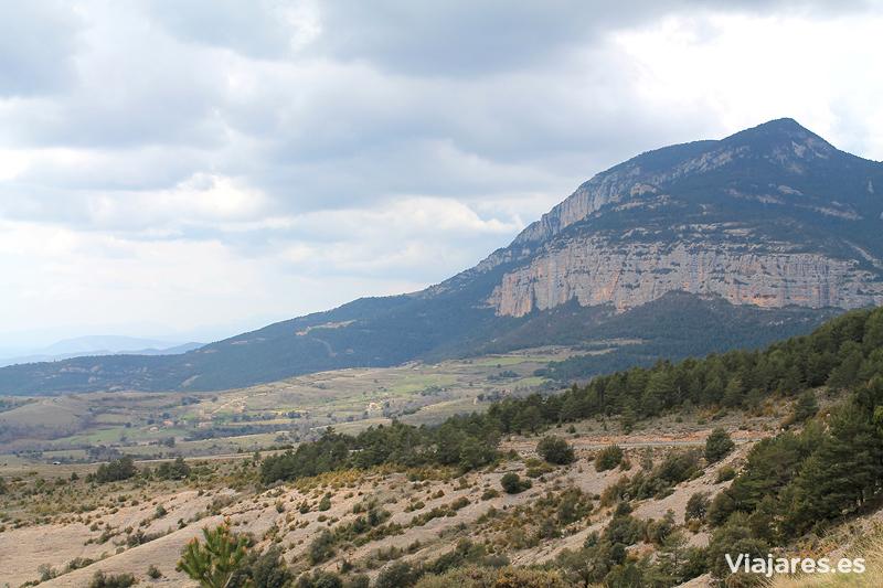 La pared de piedra de Roca Canalda