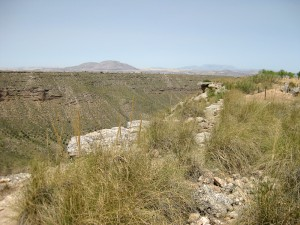 Un paisaje único parecido a un desierto