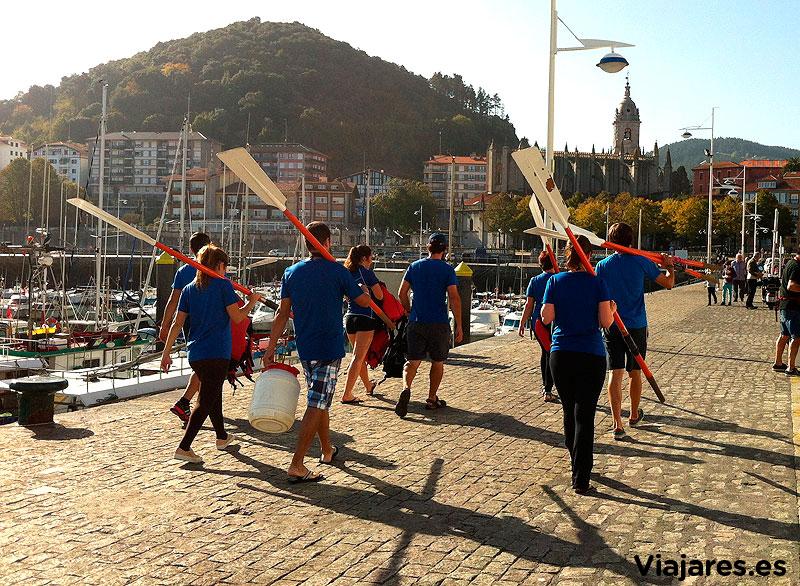 El equipo de bloggers remeros en Lekeitio