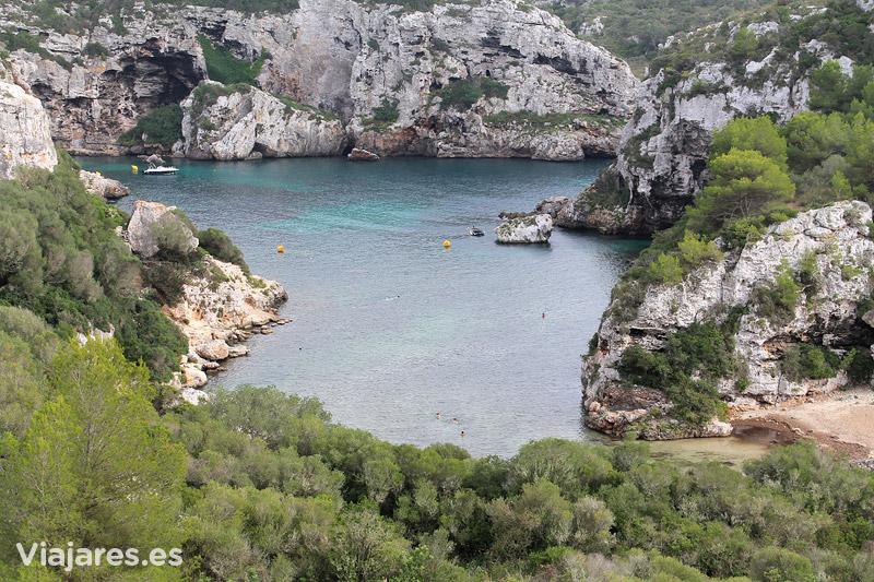 Cales Coves en la parte sur de Menorca