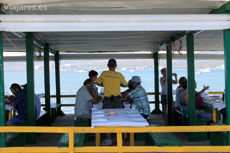 Todas las mesas tienen vistas privilegiadas al mar
