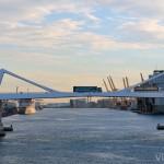 Puente de Europa en el Port de Barcelona