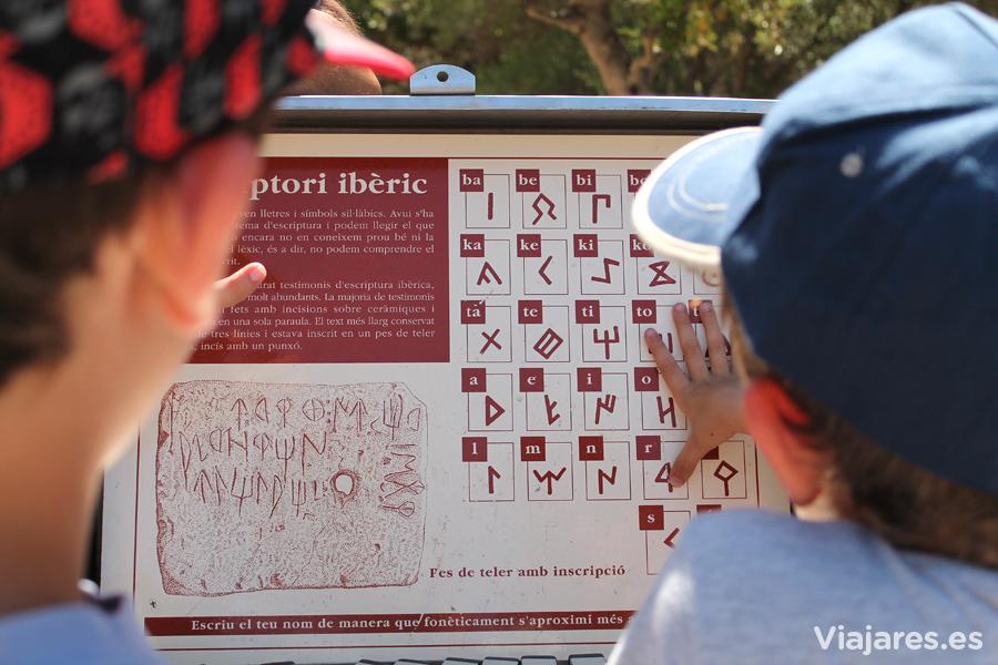 Jugando con el alfabeto usado por los íberos
