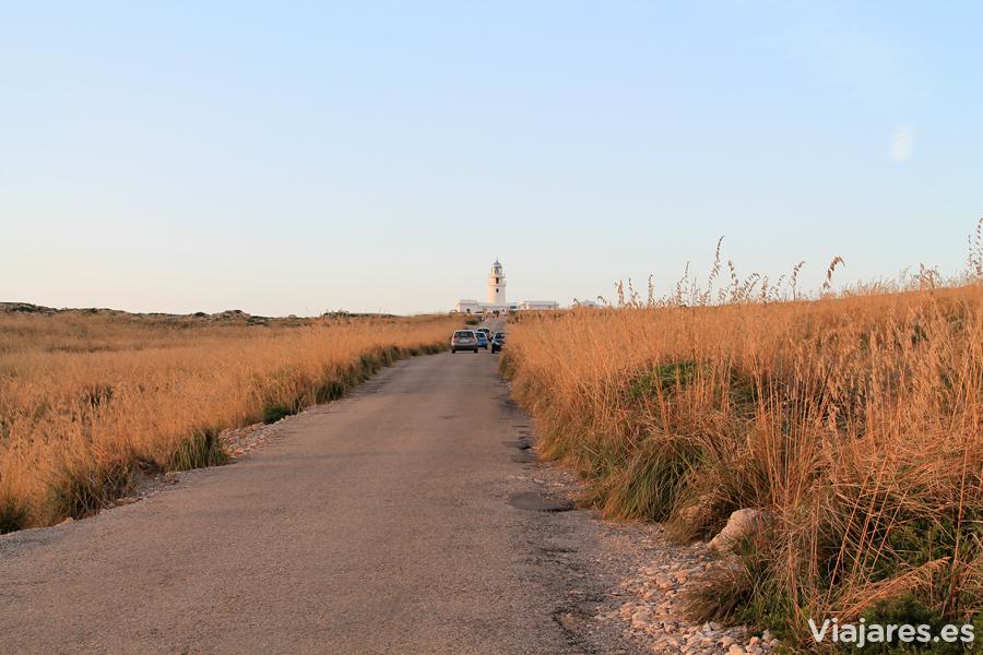 Carretera que conduce al Faro de Cavalleria, Menorca