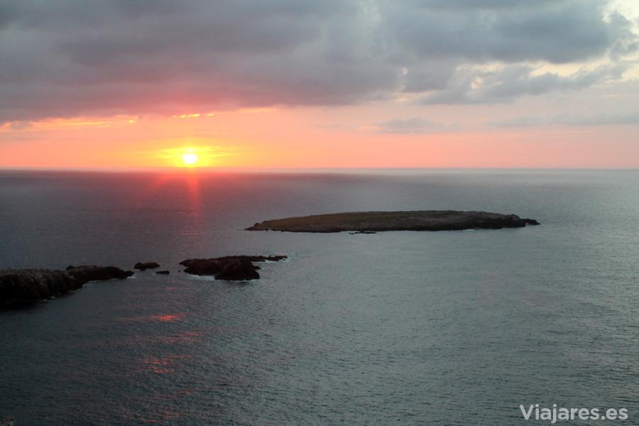 Atardecer desde Cap Cavalleria al norte de Menorca