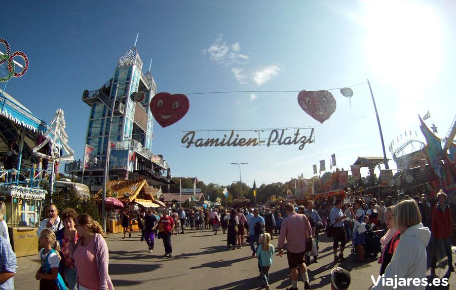 Zona especial para familias en Oktoberfest