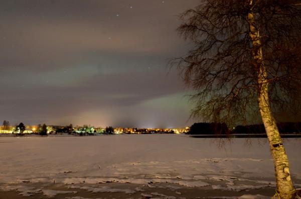 Paisaje invernal en Finlandia