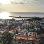 El puerto de Funchal visto desde la Fortaleza do Pico