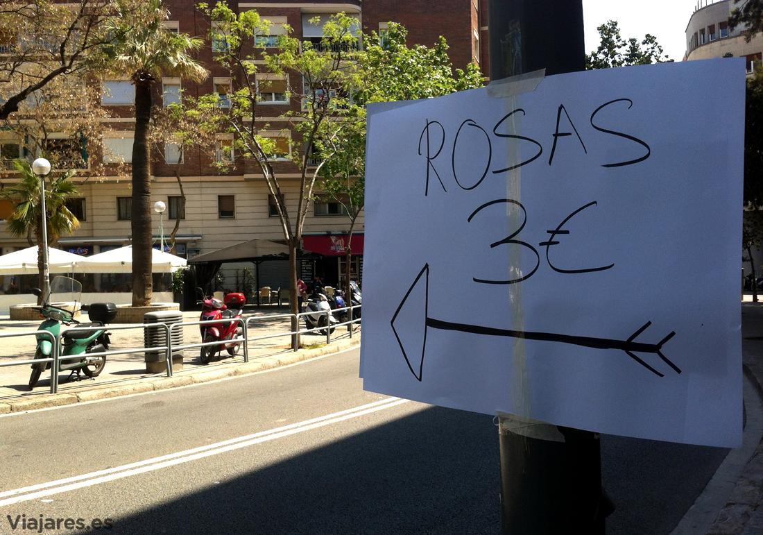 Rosas a 3 euros el 23 de abril