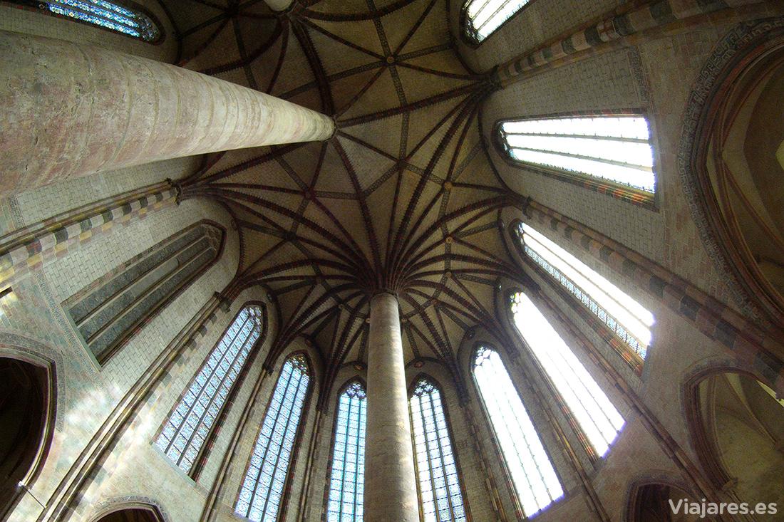 La impresionante bóveda del Couvent des Jacobins