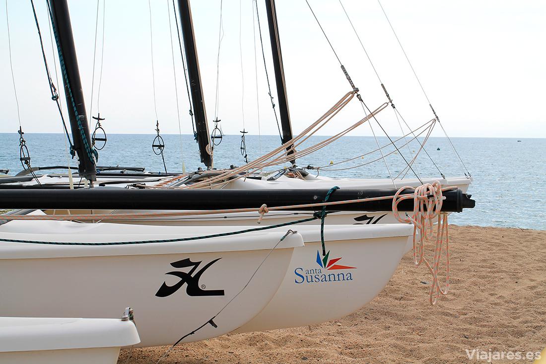 Actividades náuticas en Santa Susanna