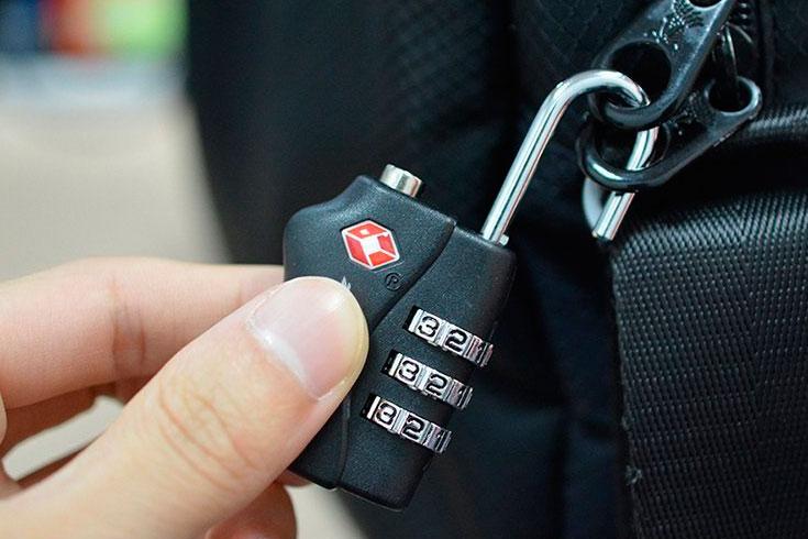 Candado de seguridad para viajes