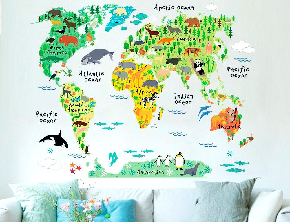 Divertido mural para pequeños viajeros