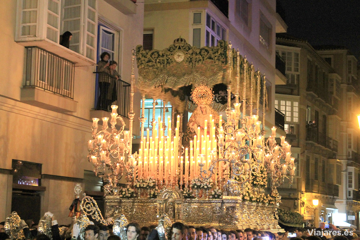Las procesiones son todo un espectáculo en Málaga