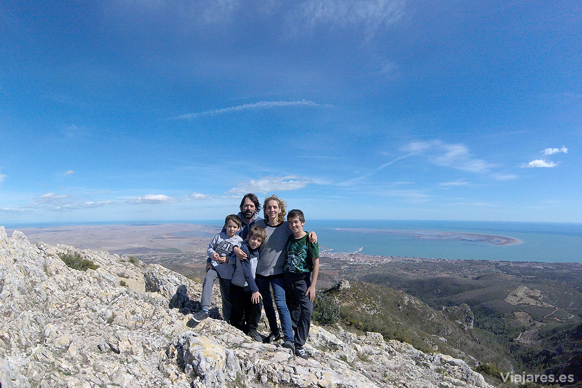 Foto de familia en la cima
