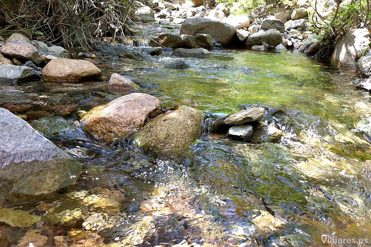 Riachuelo de aguas cristalinas en Vall de Castellfollit