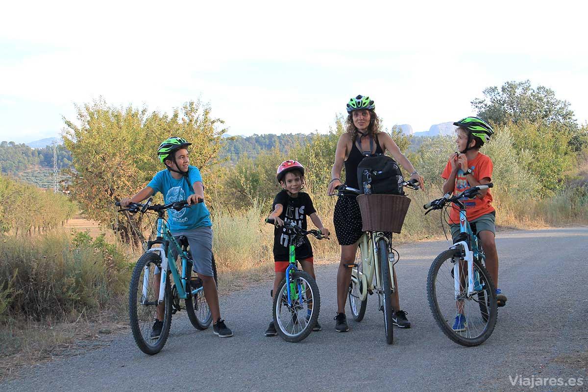 Equipo ciclista de la Vía Verde