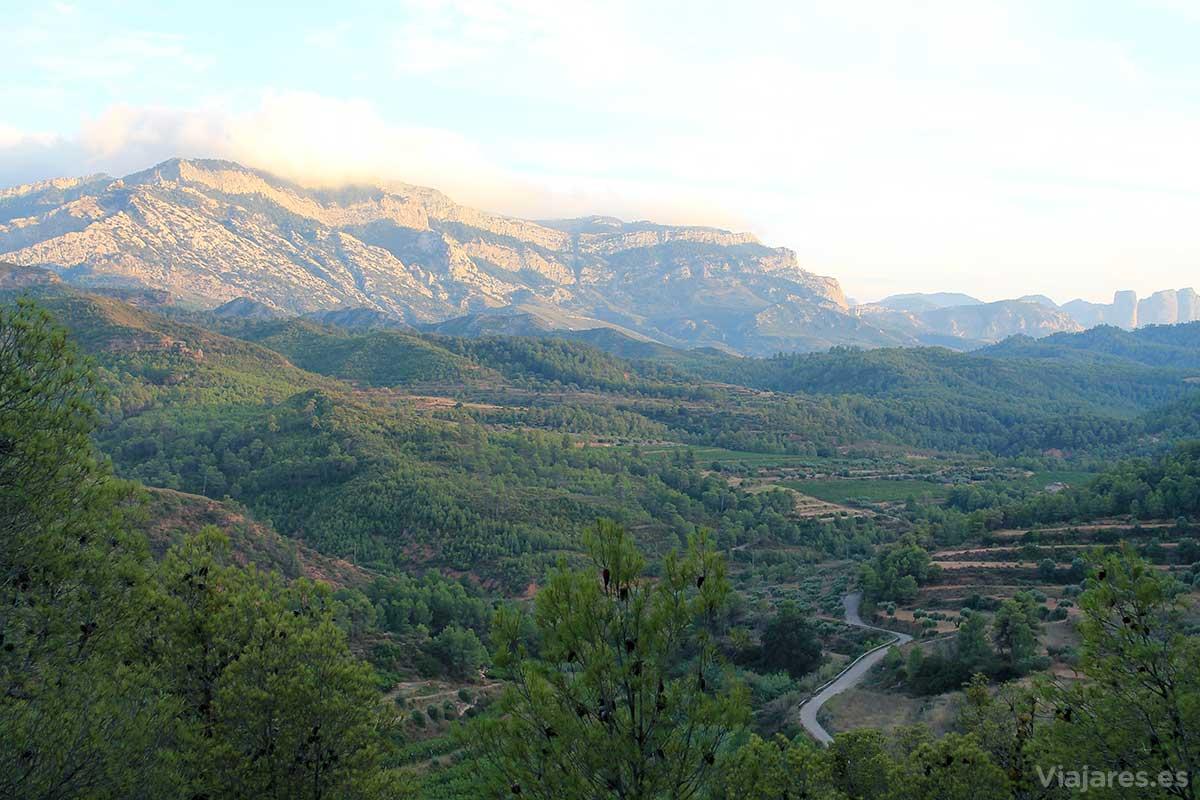 Paisaje en Els Ports desde la Vía Verde