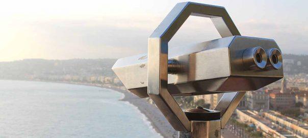 La playa de Niza desde la Torre Bellanda