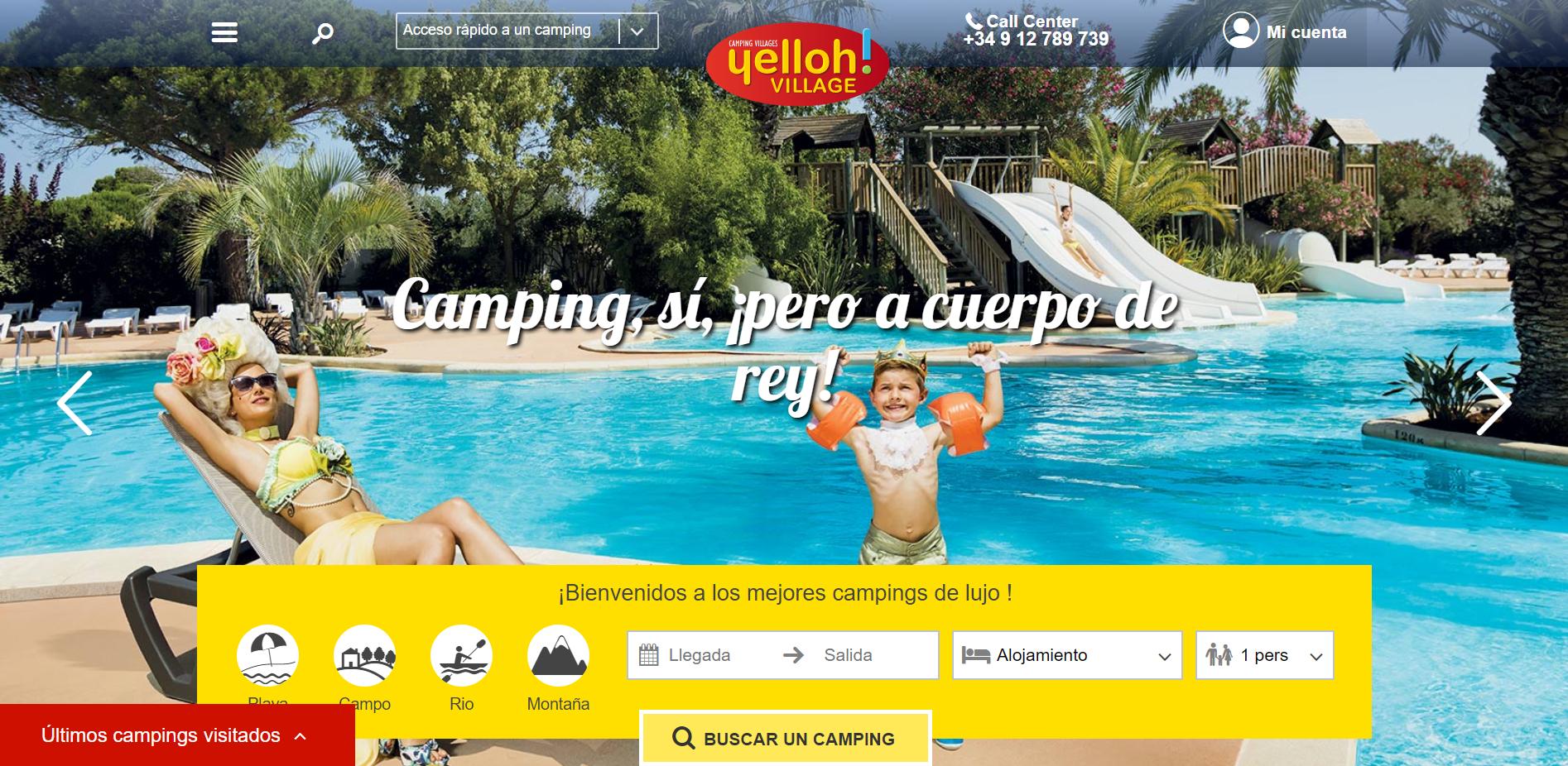 Página web de Yelloh Village