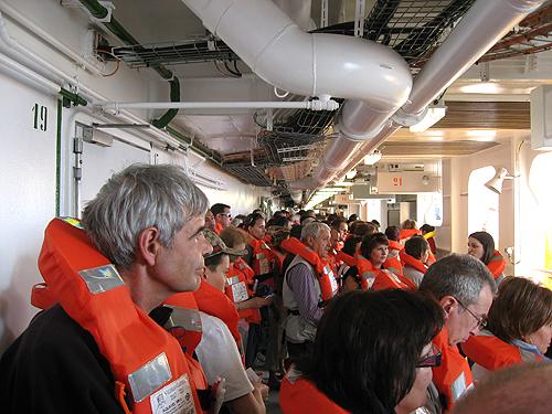 Simulacro de Emergencia General en el crucero Costa Concordia