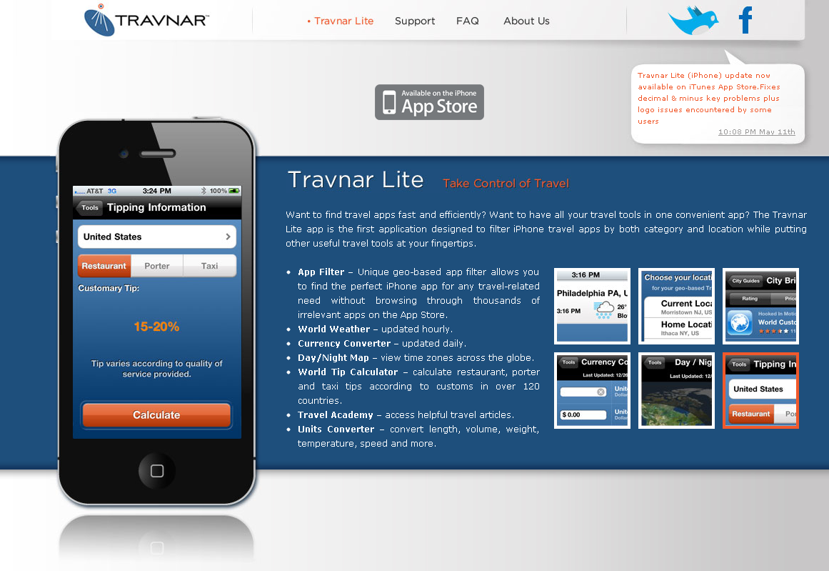 Travnar Lite iPhone app