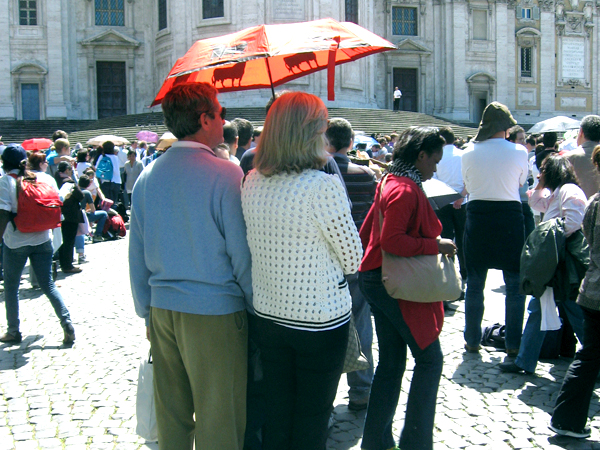 Roma - Españoles en la beatificacion de Juan Pablo II