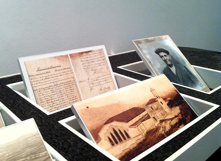 Material gráfico en la exposición