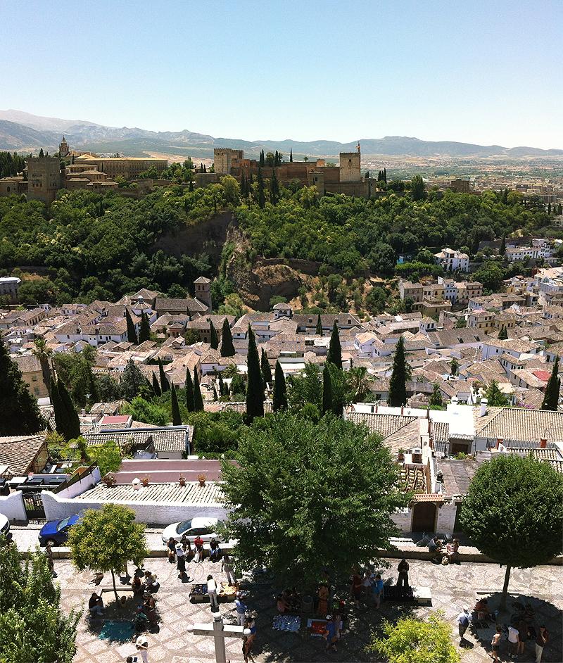 Vista de Granada desde el campanario de San Nicolás