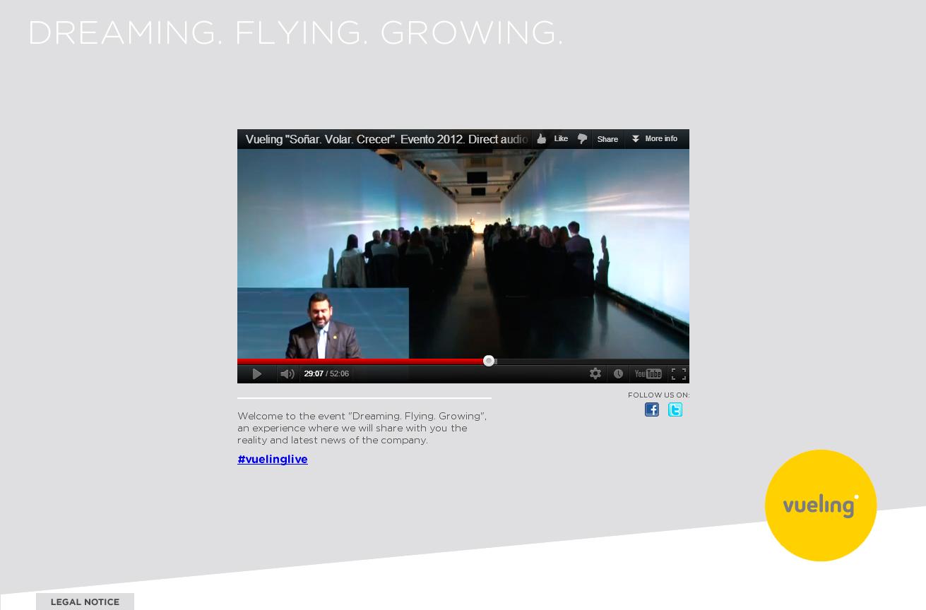Presentación Vueling Live