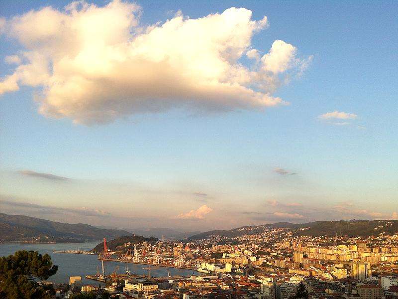 Panorámica sobre la ciudad de Vigo
