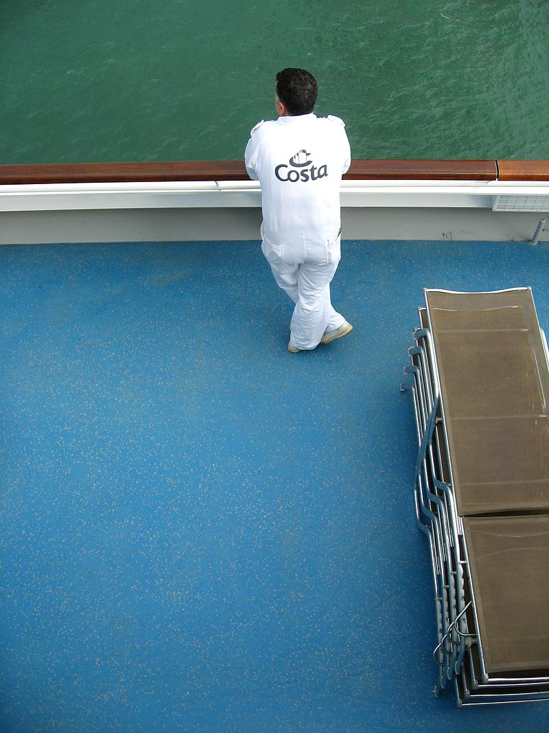Trabajador del crucero Costa Concordia