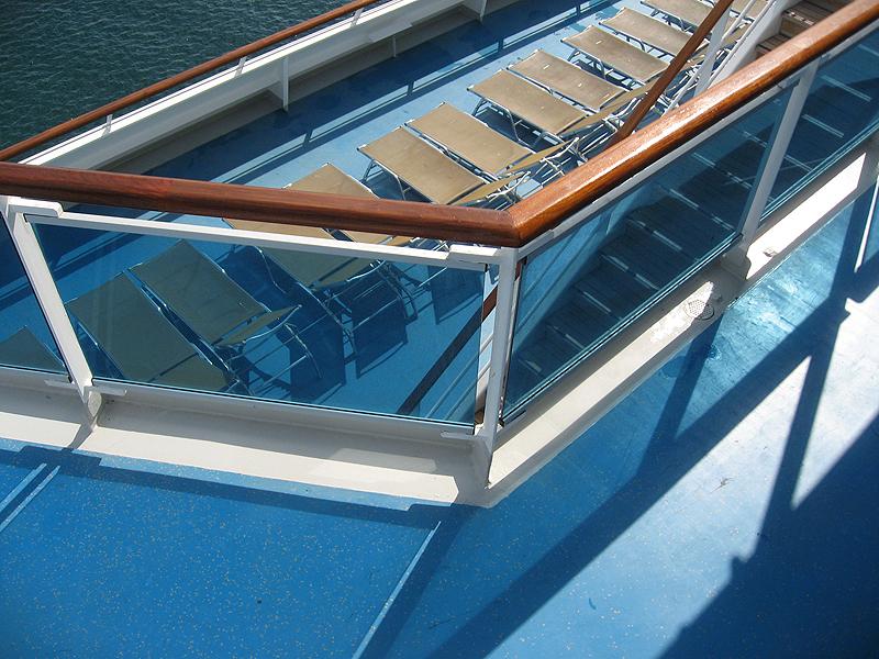 Tumbonas en el crucero Costa Concordia