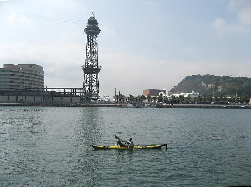 El Puerto de Barcelona soleado